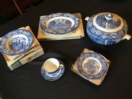 Enoch Wedgwood Staffordshire Liberty Blue Ironstone - China Set - Local ... - $800.00