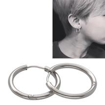 Unisex Stainless Steel  Dancer Cool Hoop Ear Stud-Earrings Jewelry Punk - $4.60 CAD