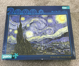Buffalo Games The Starry Night Vincent Van Gogh 2000 Piece Jigsaw Puzzle - $15.84