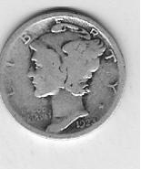 Nice 1923 Mercury dime - $4.00