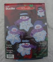 Vintage 2001 Bucilla Christmas Felt Ornament Kit #84597 -  Let it Snow -... - $22.99
