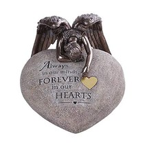 Pacific Giftware PT Weeping Winged Angel Heart Rock Polyresin Decorative Figurin - $148.49