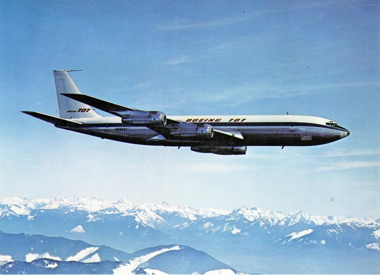 Boeing 707 Intercontinental postcard