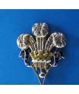 Prince of Wales Feathers Antique Sterling Silver Souvenir Collector Spoo... - $149.99