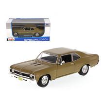 1970 Chevrolet Nova SS Gold 1/24 Diecast Model Car by Maisto 31262gld - $28.33