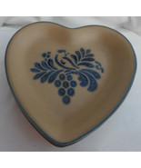 """4 Pfaltzgraff FOLK ART HEART SHAPED SALAD PLATES USA VINTAGE 8 1/2"""" - £36.68 GBP"""