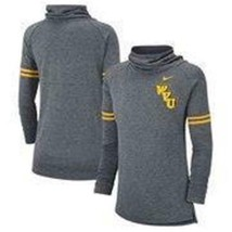 NEW WOMENS NIKE WVU WEST VIRGINIA MOUNTAINEERS FUNNEL NECK SWEATSHIRT XL - $38.88