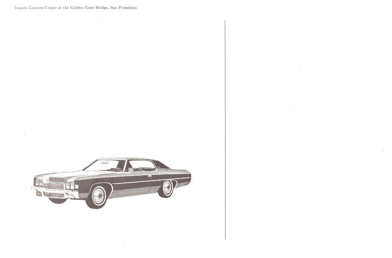 Chevrolet - 1975 Impala Custom Coupe postcard