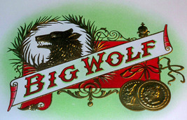 Big Wolf Embossed Inner Cigar Label, 1920's - $5.89