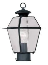 Livex Lighting 2182-04 Westover 1-Light Outdoor Post Head, Black - $141.35