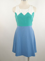 Alythea Sz Med Turquoise and Blue Fit and Flare Dress - $9.89