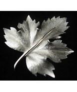 large Vintage Boucher Silver Maple Leaf Pin Brooch Old - $14.50