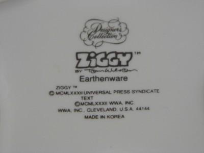 "vintage 1983 ZIGGY cartoon ""WHAT NOTS"" Star shaped ceramic DISH dresser jewelry"