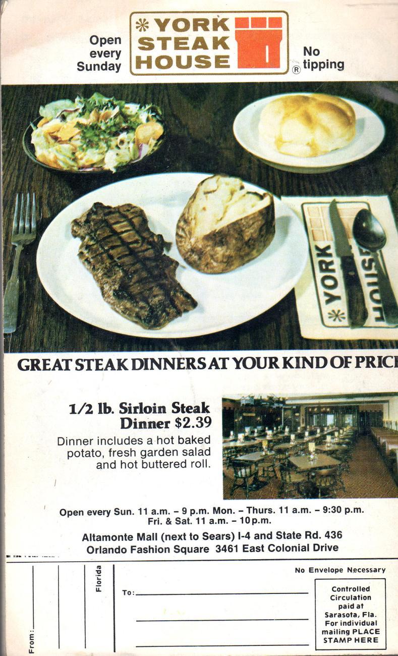 Orlando Florida (Vintage -  September,1976
