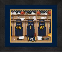 Personalized Utah Jazz 12 x 16 Locker Room Framed Print - $63.95