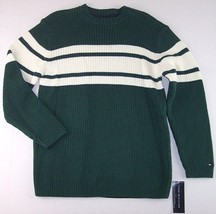 NWT Tommy Hilfiger Boy's 100% Cotton Green & White Sweater, L (16-18), $54.50 - $18.79