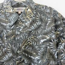 Campia Moda Tropical Aloha Friday Shirt Match Pocket Outrigger Palm Leaves  - $29.69