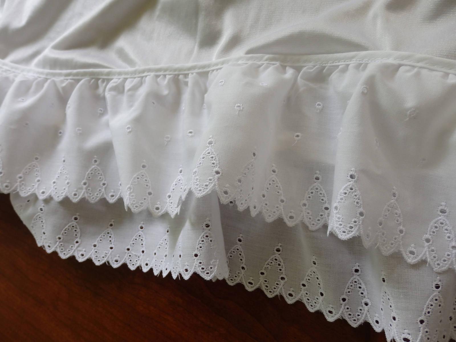 Half Slips, Slip Extenders, Slips,White Eyelet Slips, Eyelet edged skirt, White  image 4