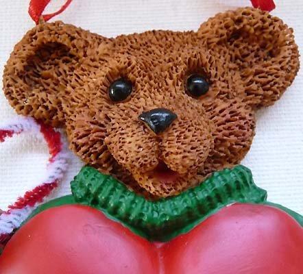 Holly Bearies CUTE Boy Teddy Bear Ornament PERSONALIZE!