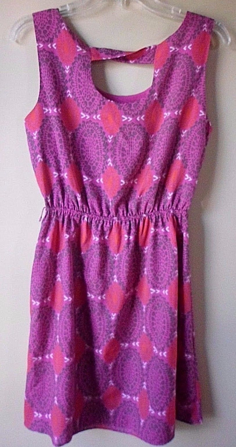 fa066861c GAP Pink Coral Print Cinch Dress ~ Size and 50 similar items