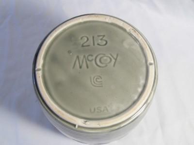 vintage McCOY Pottery green (no lid) Cookie Jug COOKIE JAR only