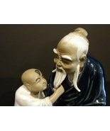 Authentic Wanjiang Mud Figurine Boy and Elder - $30.00