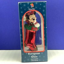 Minnie Mouse Christmas ornament European glass disney mickey unlimited s... - $34.60