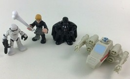 Star Wars Galactic Heroes Luke Darth Vader Stormtrooper Figures 4pc Lot Hasbro - $14.21