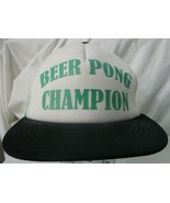 Beer Pong Champion Adjustable Authentic Snap Back Mesh Trucker Hat Colle... - $14.84