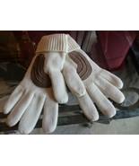 M L Women Gloves Mitten Knit Winter Brown White Warm Thick Work Career S... - $7.43
