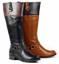 Faux Leather Knee High Tall Zipper Riding Biking Boot Soda Sam Black Brown Tan  - $14.99+