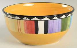 "Gibson Designs Fandango Multi-color Soup/Cereal Bowl 2 3/4"" in Height  M... - $12.99"