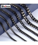 Stainless Steel 3.5mm / 5mm / 7mm Cuban Chain Black Waterproof Men's and... - $18.67