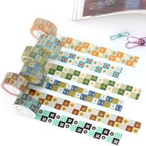 6 pcs/Lot Decorative pattern adhesive tape Vintage check washi tapes 2cm... - $23.57+