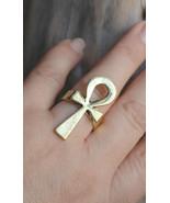 Key of life ring, Ankh ring, Egyptian cross ring (R403) - $8.00