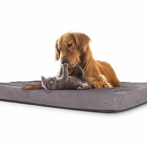 Pet Bed + Mattress Filled in Shredded Memory Foam Waterproof Non-Slip, L... - $43.55