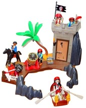 Playmobil LOT 5782 Pirate Hideout 100% w/box Skeleton 6 Pirates Horse To... - $23.95
