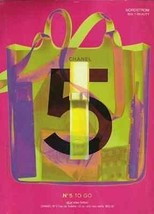 CHANEL No.5 To Go Perfume 2001 Pink Green AD - $14.99