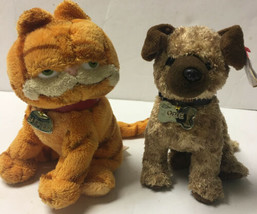 """2004 Ty Beanie Babies Collection Garfield and Odie Lot of 2 Plush 7"""" Stu... - $15.25"""