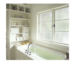 Decorative Static Cling Window Film - Crackled Glass 36 in x 6.5 ft - $64.34
