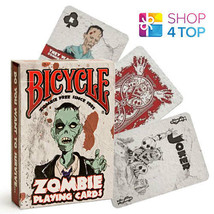 BICYCLE ZOMBIE PLAYING CARDS DECK FUNNY ZOMBIES APOCALYPSE HALLOWEEN MAD... - $7.03