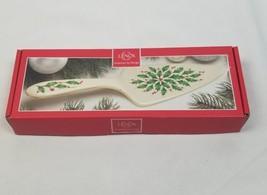 Lenox Vacaciones 27.9cm Porcelana Postre Servidor Acebo y Bayas - $25.64