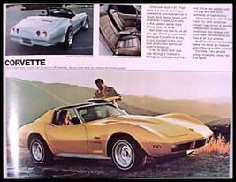 1974 Chevrolet Brochure, Corvette Camaro Z28 Chevelle - $7.05