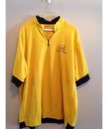 Vintage Mens Polo Sport RL-67 Ralph Lauren Short Sleeve 1/4 zip Shirt Ye... - $29.88