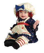 Ragamuffin Dolly Costume Raggedy Ann Dress Blue Colonial Halloween - $27.90