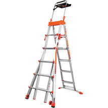 Step Ladder Portable Folding Multi-Position Adjustable 6'-10' Steps Dura... - $319.23