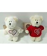Lot 2 Boyds Message Bears Mini Special Occasion HUG ME - LOVE YA w/ All ... - $47.02