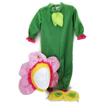 Pink Pansy Costume 12-18 Months Jumpsuit Headpiece Foot Covers Pretend Play - $15.00