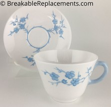Spode Blanche De Chine Y3456 Light Blue Cup & Saucer - $5.00