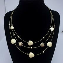 A Gold Tone Choker Pendant Statement Bib Necklace Elegant Chic Jewelry   - $8.97